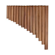 Muslady 15 Pan Flute G Key Pan Pipes Natural Bamboo Panpipes Chinese Traditional Woodwind Instrument with Carry Bag