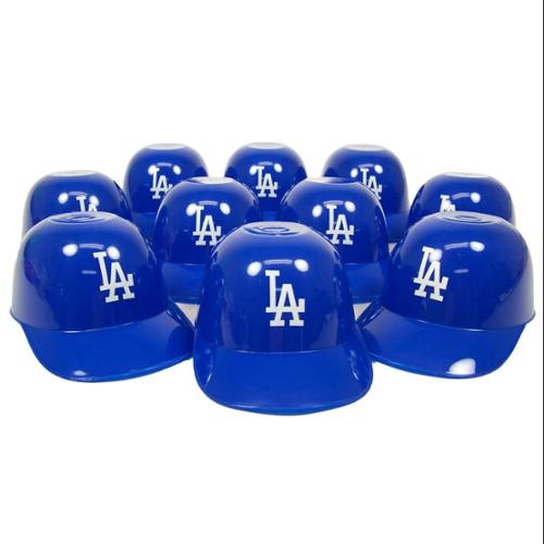 Los Angeles Dodgers Official MLB 8oz Mini Baseball Helmet Ice Cream Snack Bowls (10) by Rawlings