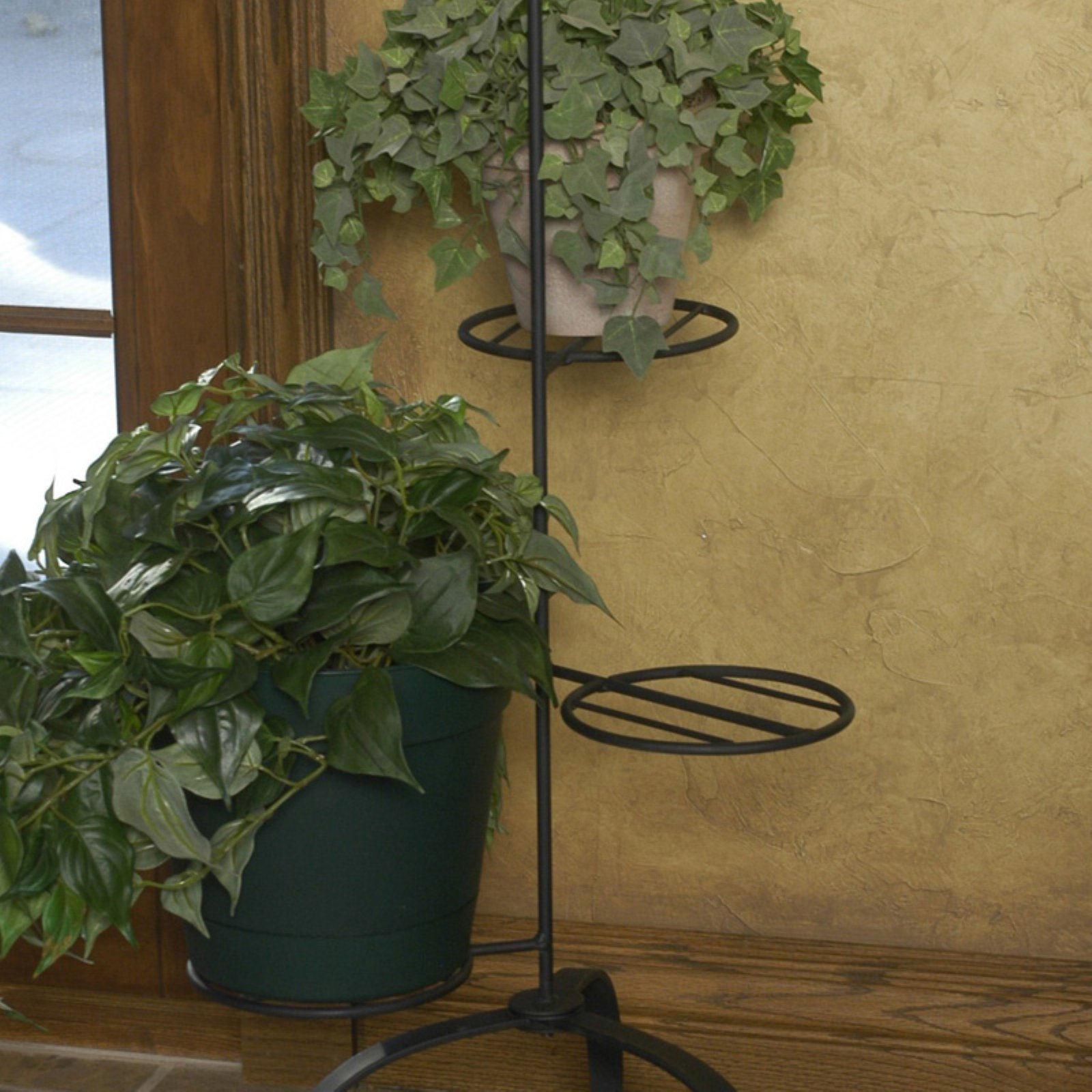 J & J Wire Triple Plant Stands Set of 2 by J & J Wire Inc