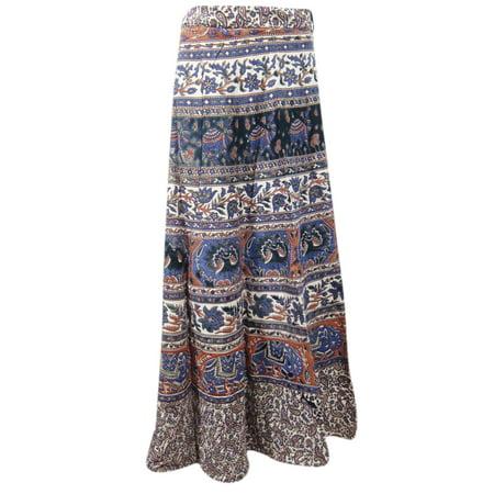 b529b01673922 Mogul Interior - Mogul Womens Cotton Wrap Skirt Animals Print Beach Bikini  Cover Up Resort Wear Sarong Summer Fashion Ethnic Wrap Around Skirts -  Walmart. ...