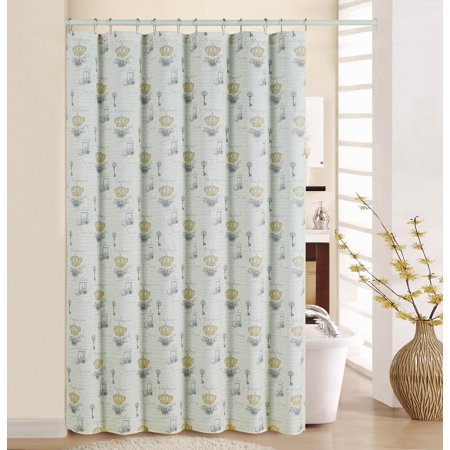 WAVERLY PARIS NOTEBOOK SHOWER CURTAIN WITH RINGS ()