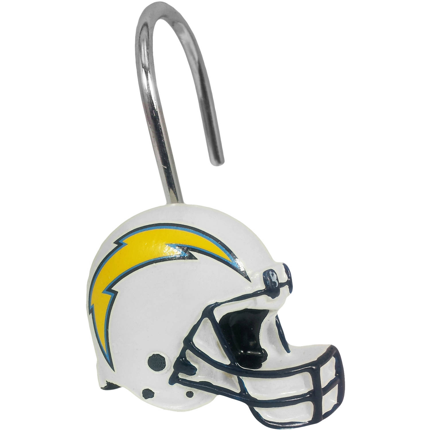 NFL San Diego Chargers Decorative Bath Collection - 12pc Shower Hooks