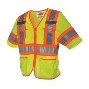 VIKING High Visibility Vest, Class 3, L, Green U6155G-L