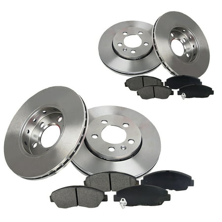 [Front+Rear] Kit Premium Rotor and Semi-Metallic Pads For 2000 Chrysler -