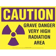 COMPLYRIGHT EHG06 Caution Sign,Very High Radiation Area
