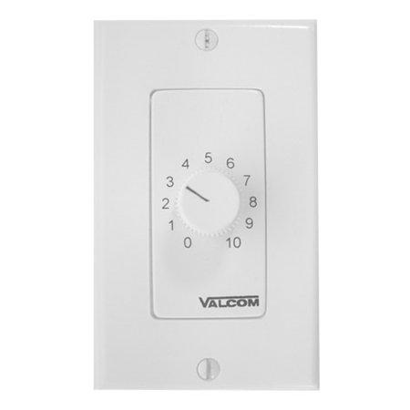 Valcom V-2992-W Speaker Volume Controls Wall Mount, White Wall Mount Volume Control