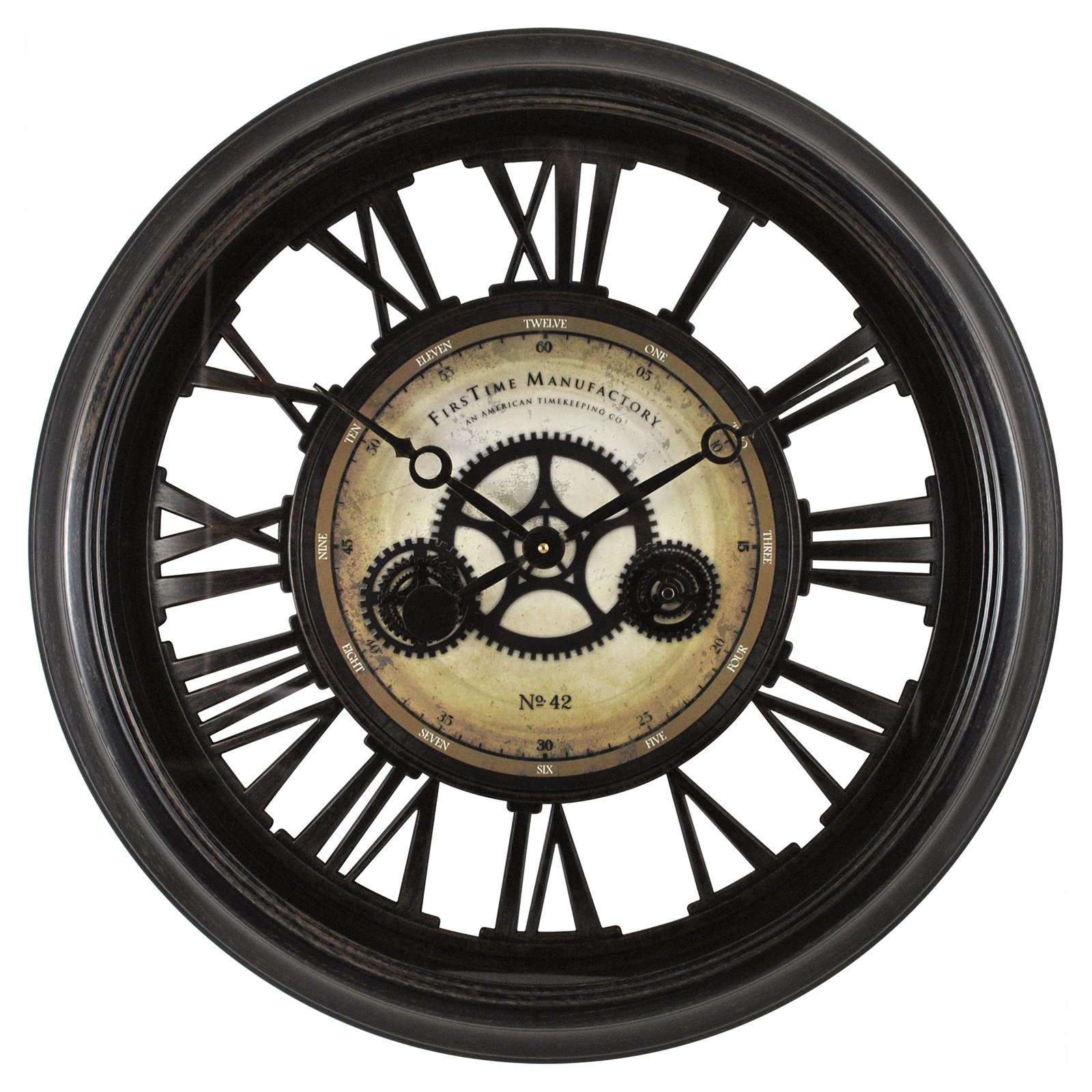 Exceptional FirsTime Gear Works Wall Clock