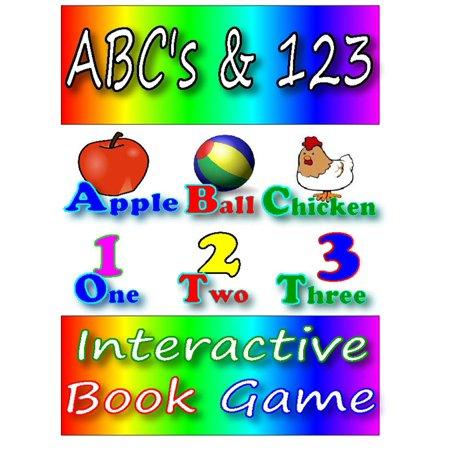 ABC's & 123 Interactive Book Game - eBook - Halloween Interactive Games Kindergarten