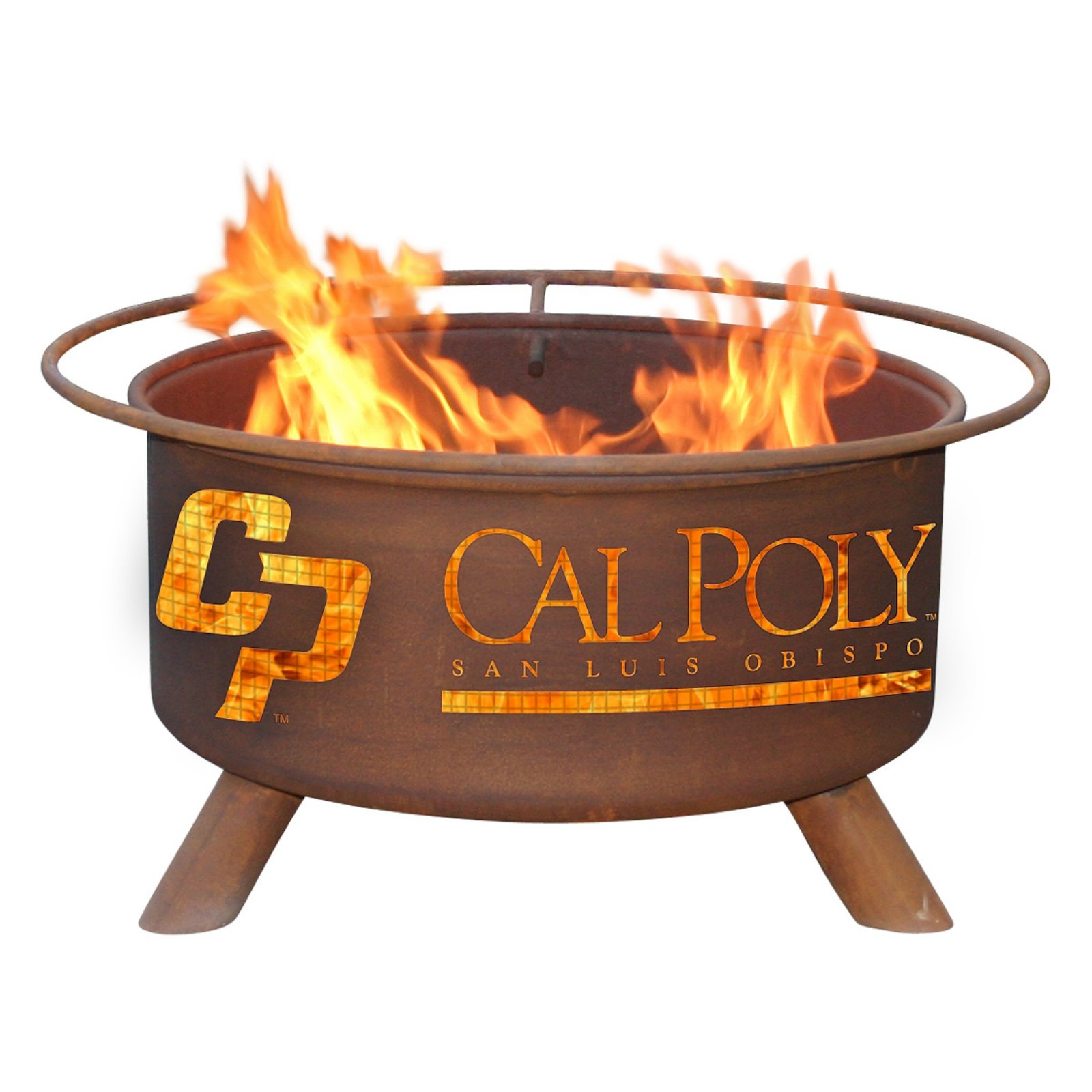 Patina College Sports 31 diam. Fire Pit with Grill and Free Cover
