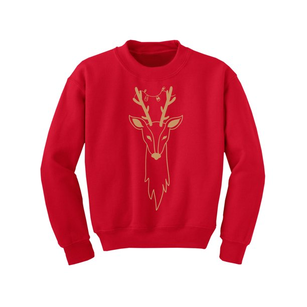 Awkward Styles Ugly Xmas Sweater for Boys Girls Kids Youth Christmas Deer Sweatshirt