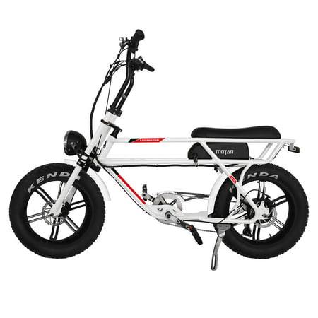 Addmotor Motan M-70 750W Electric Cruiser Bike Mini Motobike 20 Inch Retro Fat Tire Urban (Best Mini Bike For Adults)