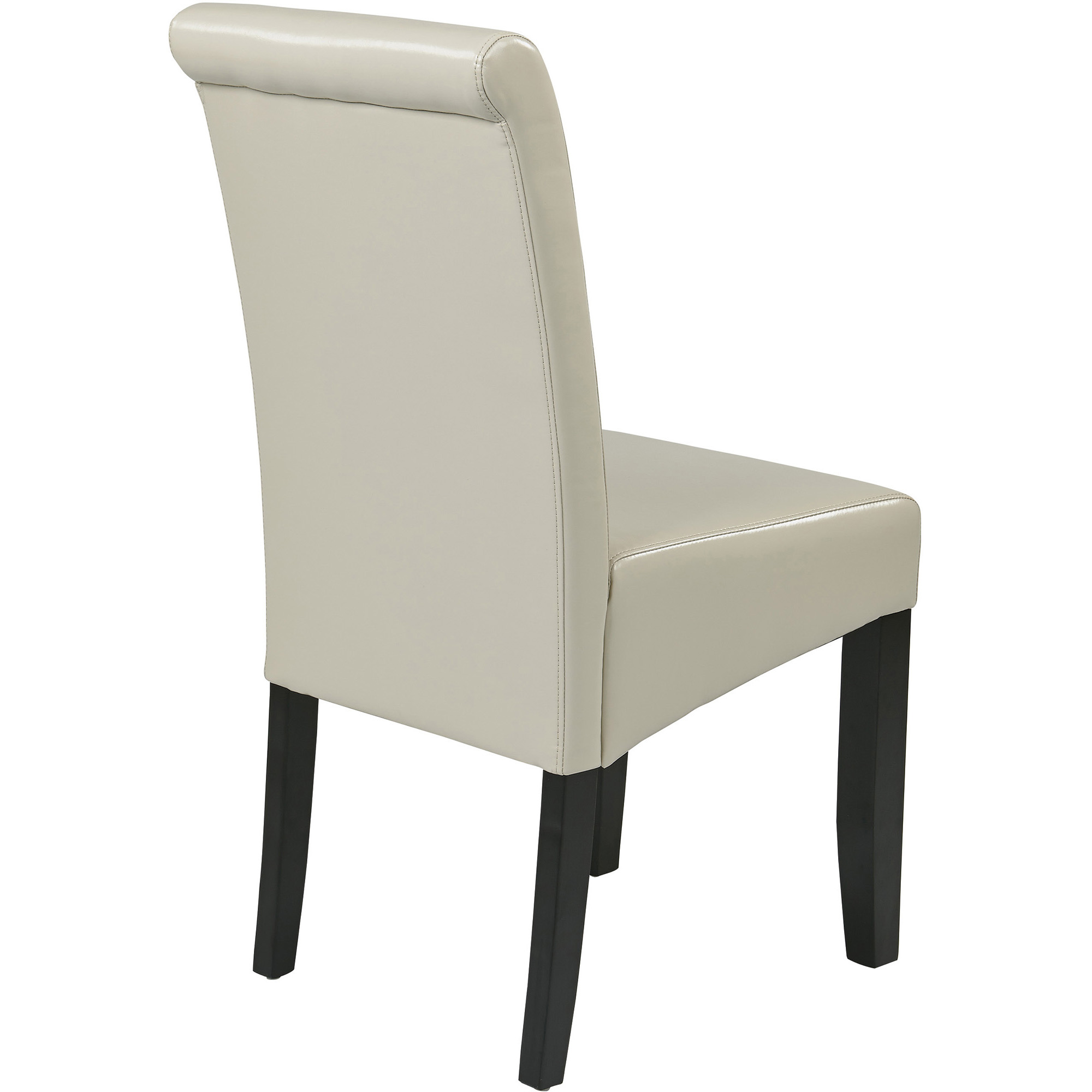 Metro Parsons Chair Cream Leather Walmart