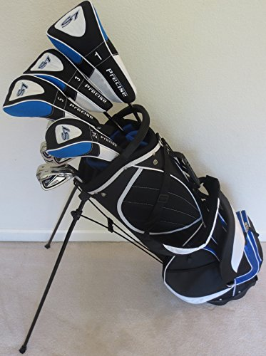Click here to buy Mens Golf Set Clubs and Bag Complete Driver, 3 & 5 Fairway Woods, Hybrid, Irons, Putter Sand Wedge & Deluxe... by Par Premium Golf.