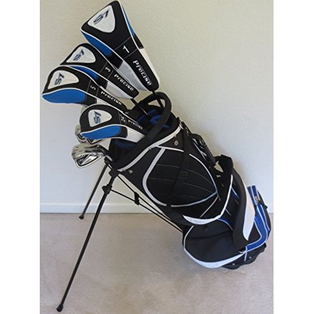 Mens Golf Set Clubs and Bag Complete Driver, 3 & 5 Fairway Woods, Hybrid, Irons, Putter Sand Wedge & Deluxe Stand Bag RH Regular - Par Golf Supply
