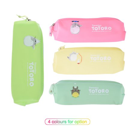 Cute Jelly Soft Waterproof Pen Pencil Case Zipper Stationery Bag Lovely Cat Pattern for Girls School Students](Girly Stationery)