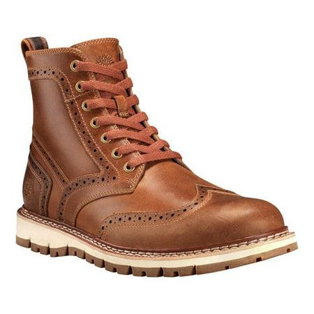 Timberland Men's Britton Hill Wingtip Boots TB0A1MH3919 Medium Brown