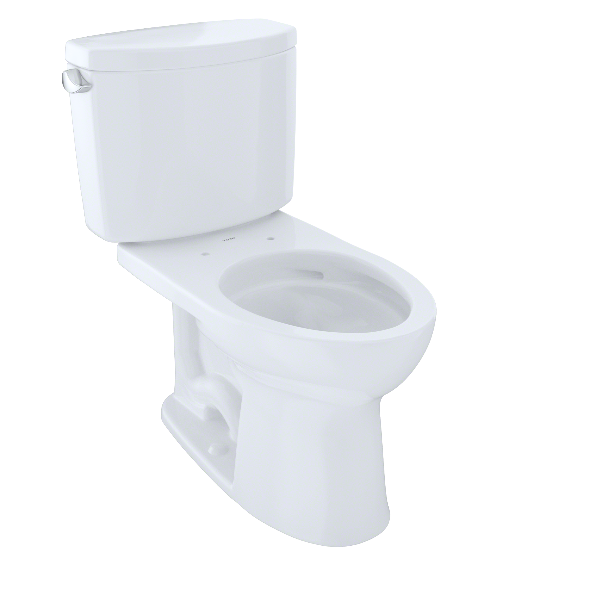 TOTO® Drake® II Two-Piece Elongated 1.28 GPF Universal Height Toilet with CeFiONtect™, Cotton White - CST454CEFG#01