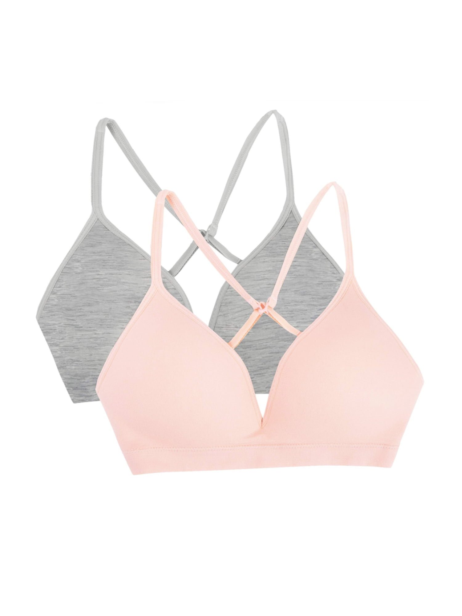 Pick SZ//Color. Fruit of the Loom Womens Seamless Pullover Bra W// Built-in Cups