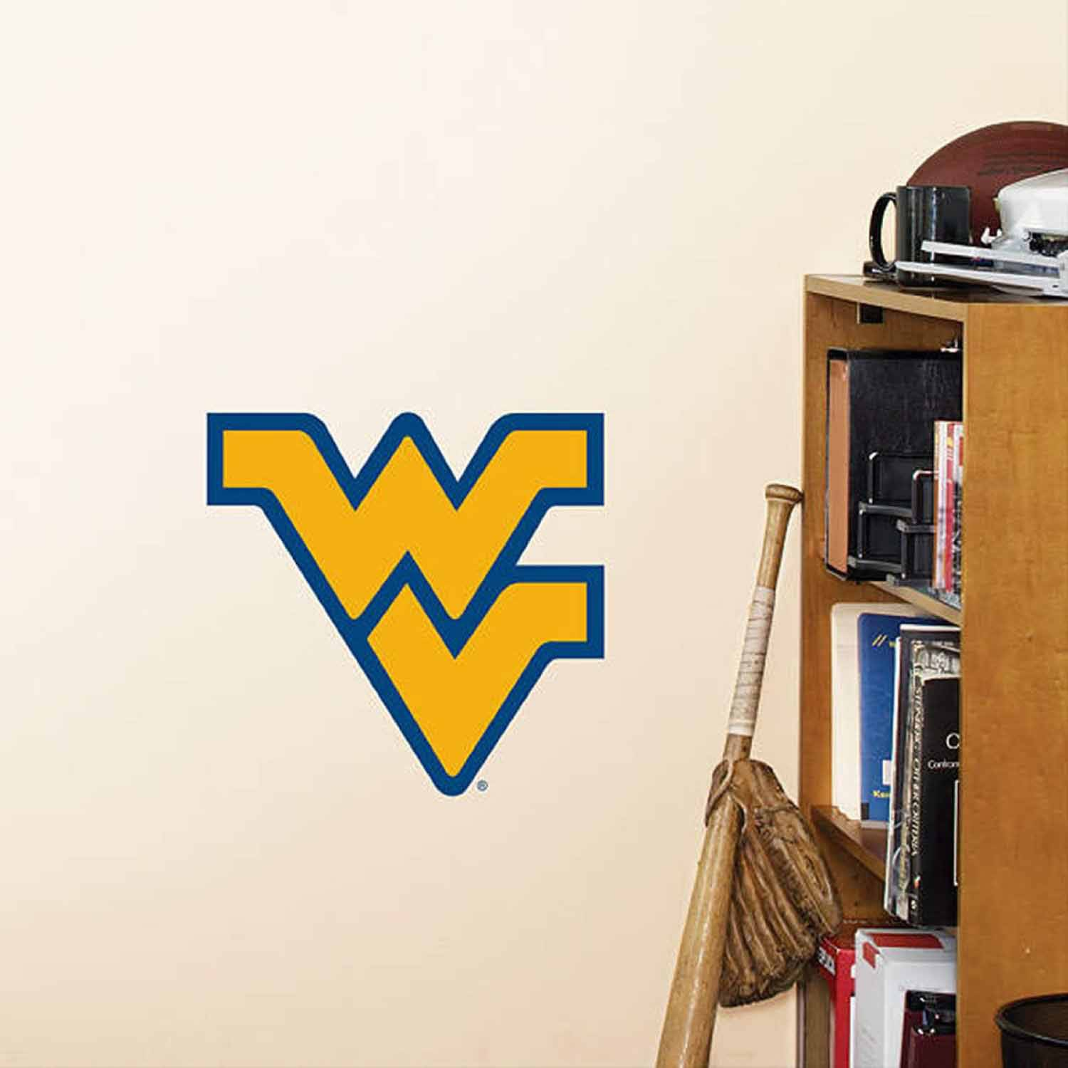 NCAA West Virginia Fathead Teammate Logo
