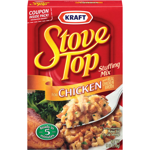 Kraft Stove Top Stuffing Mix for Chicken, 6 oz (Pack of 4)