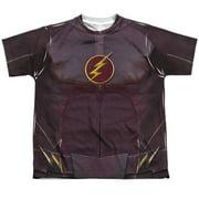 The Flash - Flash Uniform (Front/Back Print) - Youth Short Sleeve Shirt - Small