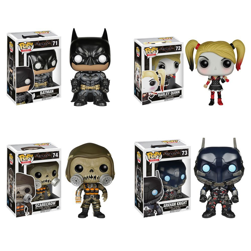 Batman: Arkham Knight Batman, Arkham Knight, Harley Quinn, Scarecrow Pop! Vinyl Figures Set of 4