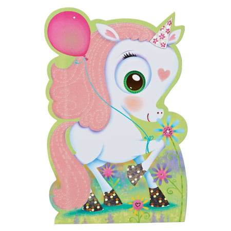 Halloween Birthday Greetings (American Greetings Unicorn Birthday Card for Girl with)