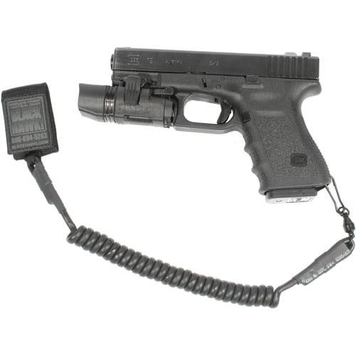 BlackHawk Pistol Coil Lanyard with Swivel, Black