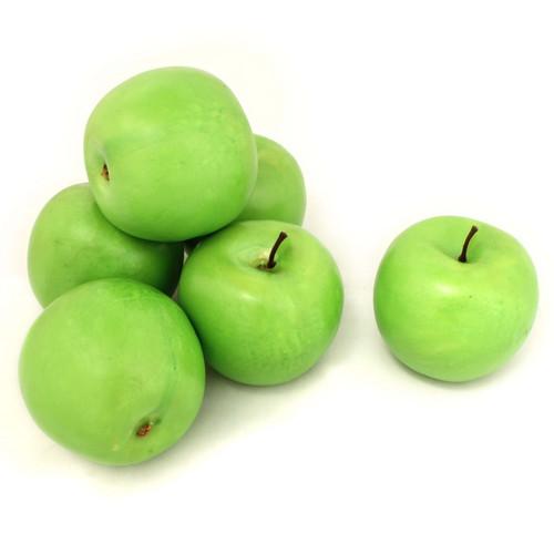ALEKO 6AFGAP Decorative Realistic Artificial Fruits, Set of 6 Green Apples