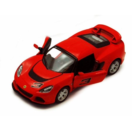 Lotus Exige Gt - 2012 Lotus Exige S #3, Red - Kinsmart 5361D - 1/32 scale Diecast Model Toy Car (Brand New, but NOT IN BOX)