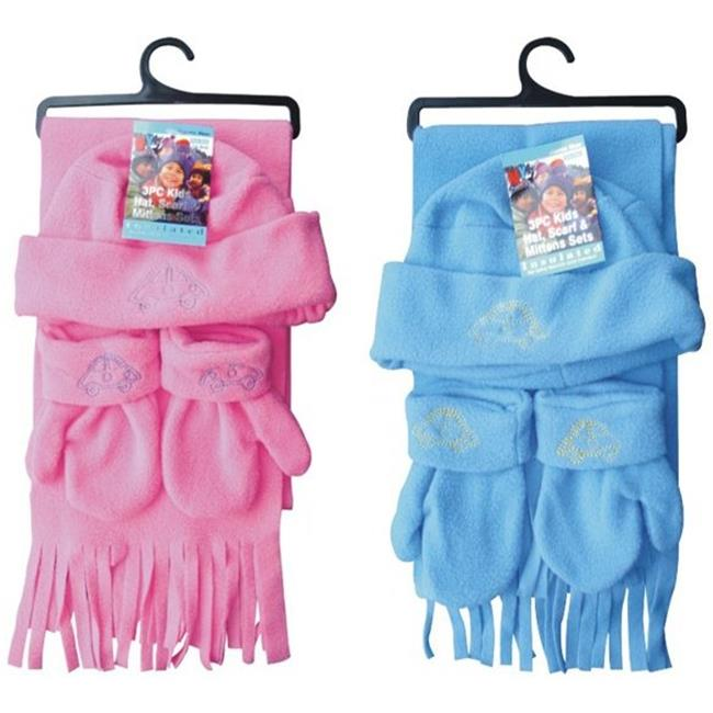 DDI 1227364 Kids Winter Scarf Hat Gloves Set -Pack of 72
