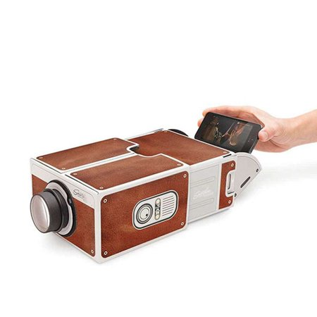 DIY 3D Cardboard Mini Smartphone Projector Light Novelty Adjustable Mobile Phone Projector Portable Cinema for $<!---->