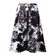 INC International Concepts Women's A-Line Pleated Print Ponte Skirt