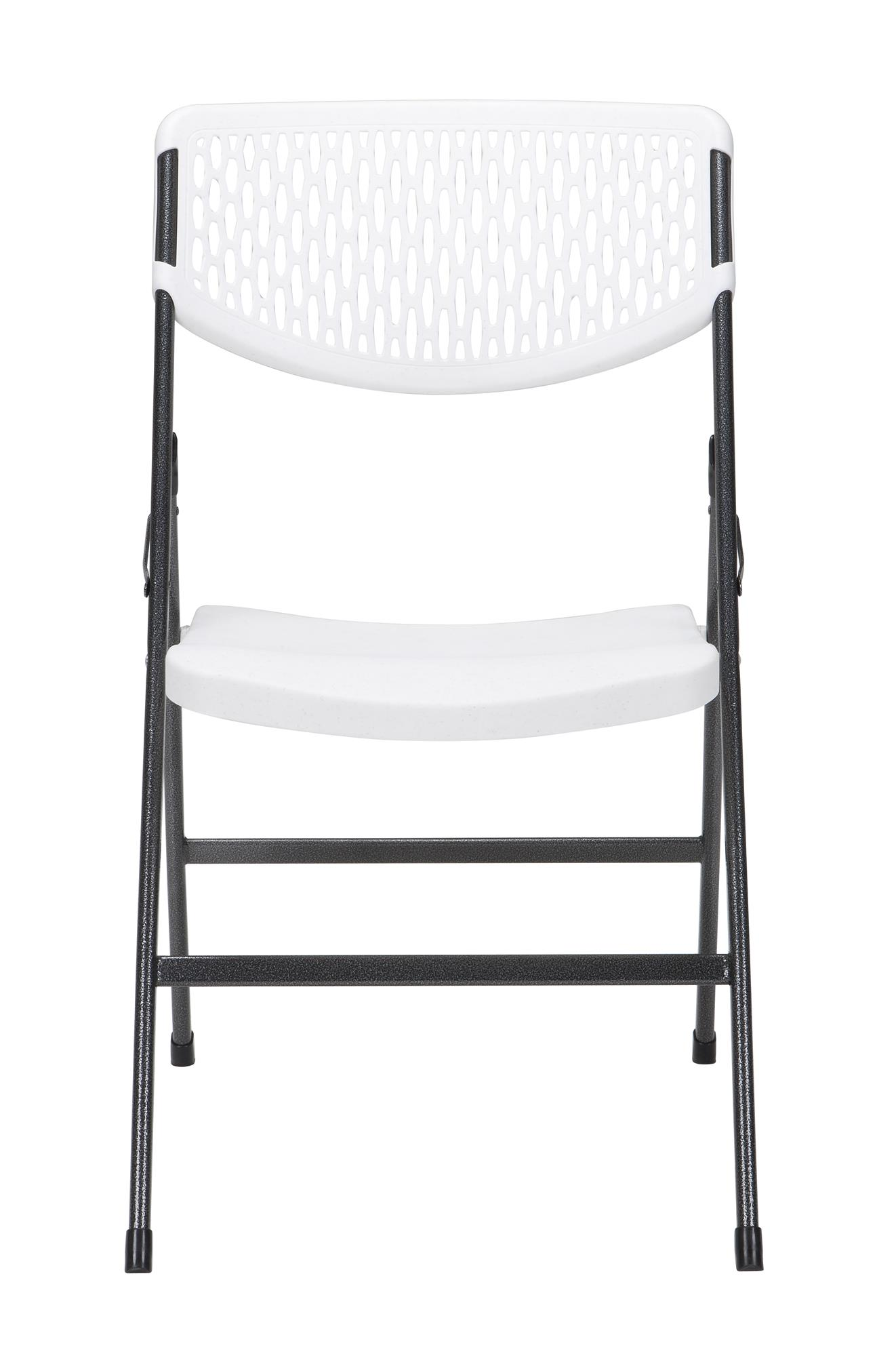 Surprising Cosco Mesh Resin Folding Chair 4 Pack White Theyellowbook Wood Chair Design Ideas Theyellowbookinfo