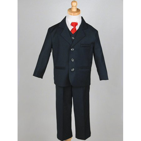 Boys' Navy 5 Piece Suit