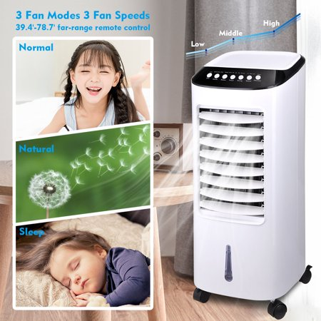 Yescom 65W Evaporative Air Conditioner Cooler Energy Saving Fan Humidifier with Remote Control Ice Boxes Indoor Home Office