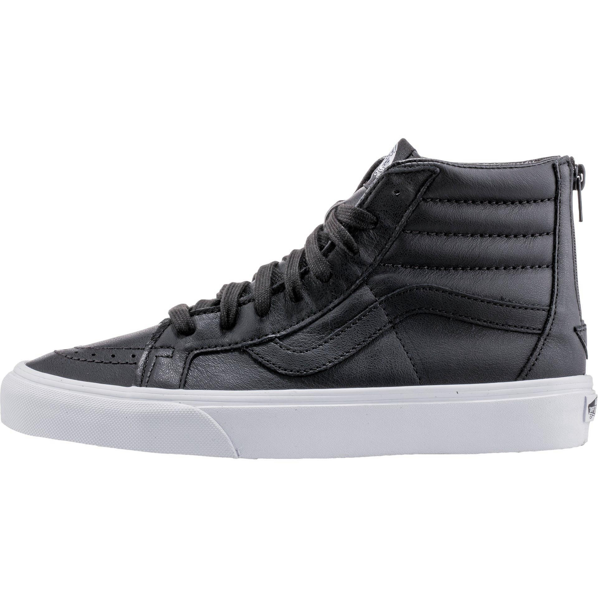 Vans - Vans SK8 Hi Reissue Zip Premium Leather Black Men s Skate Shoes Size  10 - Walmart.com 62675ca2c4fc