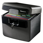 SentrySafe HD4100 Fire-Resistant and Water-Resistant Box Safe with Key Lock, 0.65 Cu. ft.