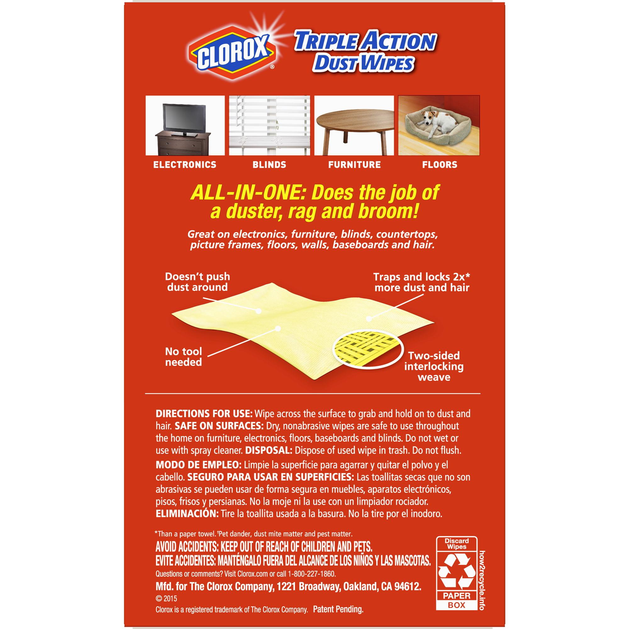 Clorox Triple Action Dust Wipes - 20 ct - Walmart.com