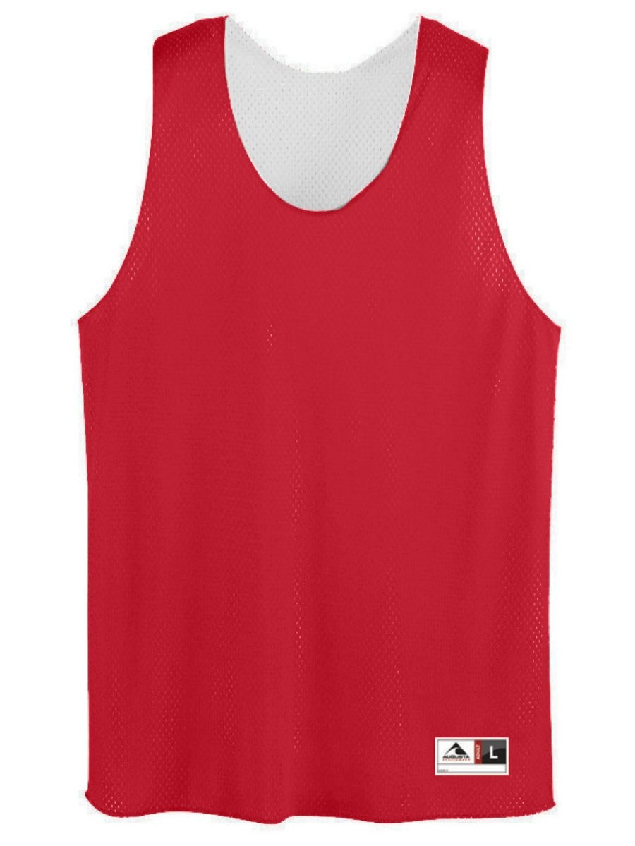 Augusta YTH TRICOT MSH REVERSIBLE TANK RED/WHI S