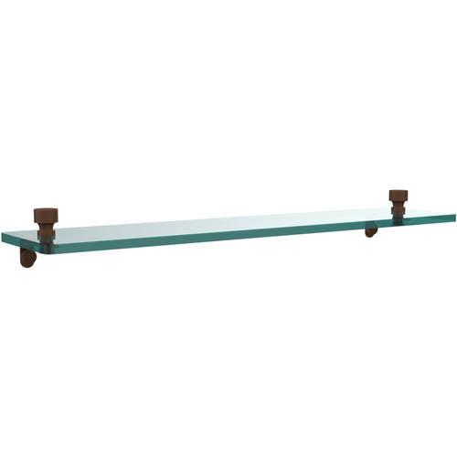 "Foxtrot 22"" Glass Vanity Shelf with Beveled Edges (Build to Order)"