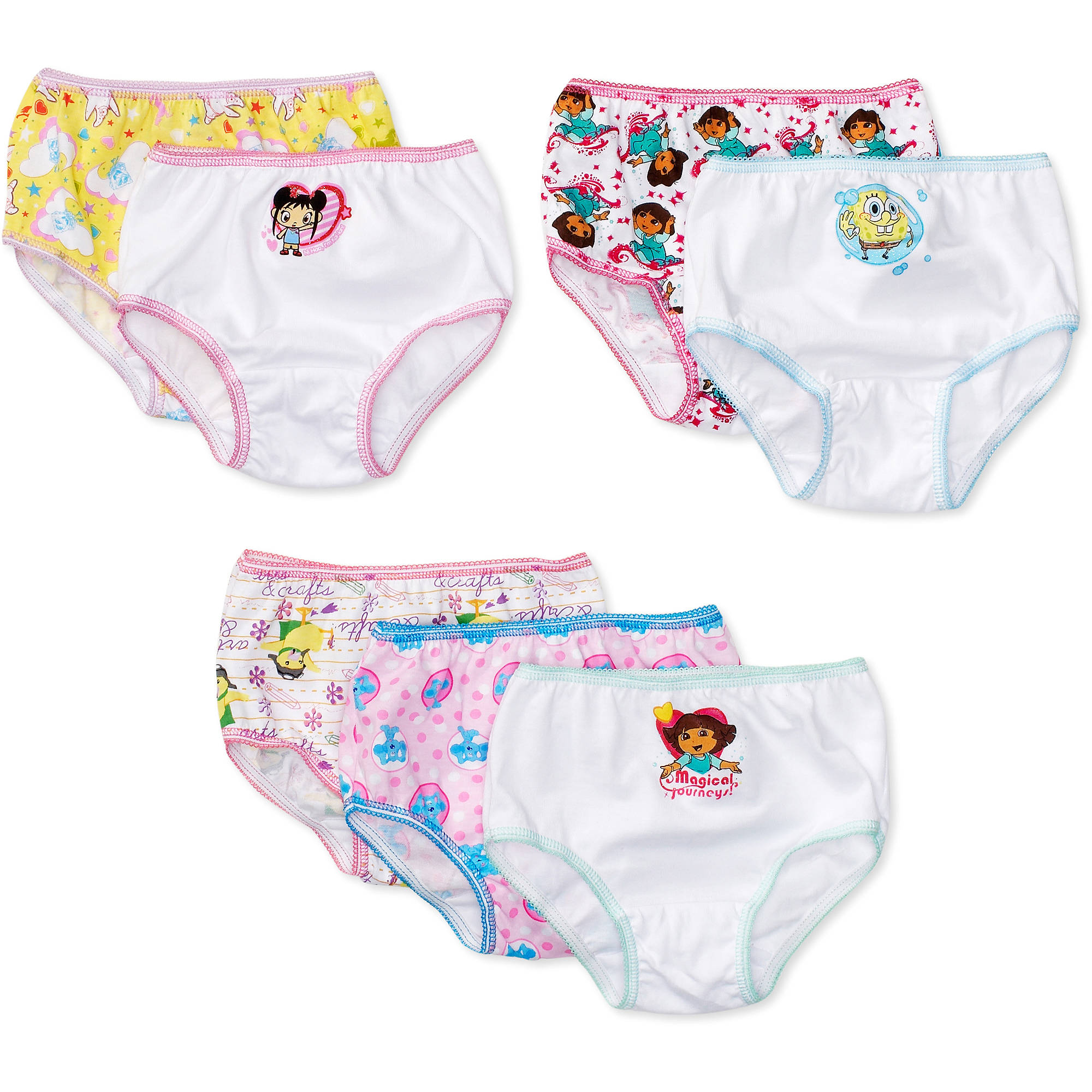 Nickelodeon Toddler Girl Favorite Characters Underwear, 7-Pack