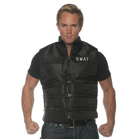 Swat Mens Adult Black Police Task Force Costume Accessory Vest-So for $<!---->
