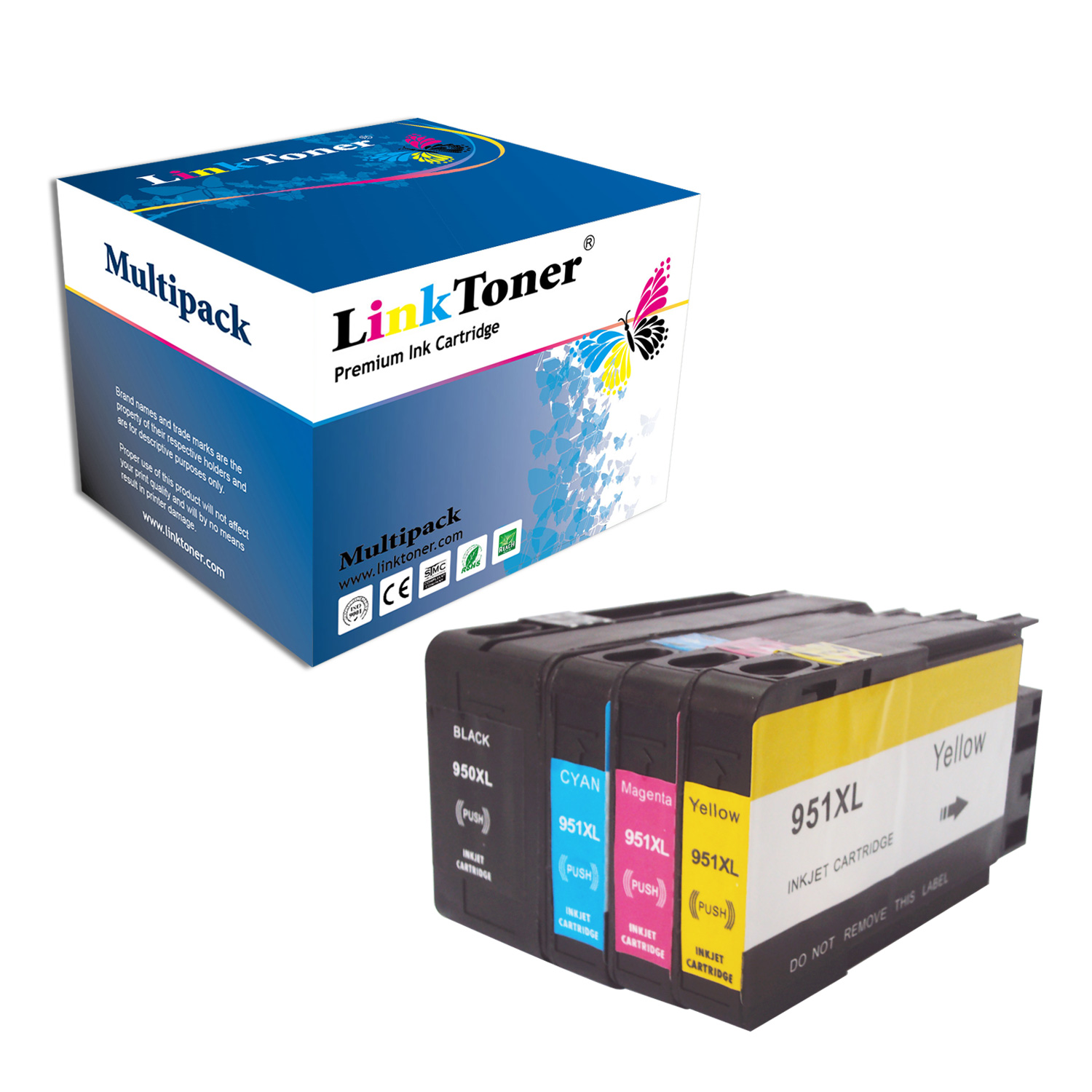 LinkToner Compatible Hp 950XL 951XL Combo 4 Color Pack Ink Cartridges Replacement for Hp Printer OfficeJet Pro 8660 8625... by Linktoner