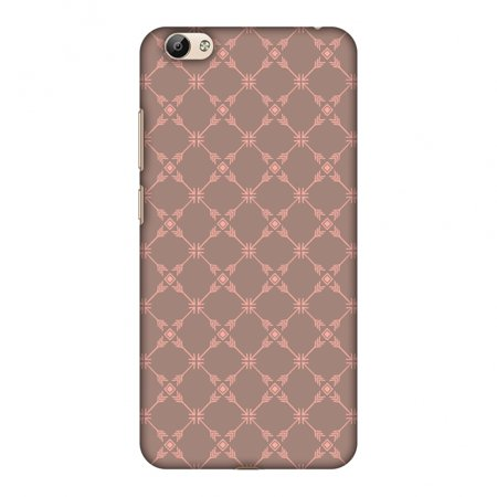 Vivo Y66 Case - Tribal mesh- Antique brass, Hard Plastic Back Cover, Slim Profile Cute Printed Designer Snap on Case with Screen Cleaning Kit