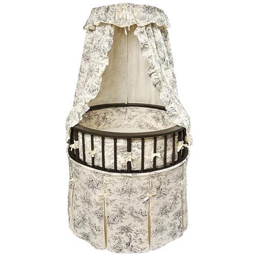 Badger Basket - Round Elegance Baby Bassinet, Toile