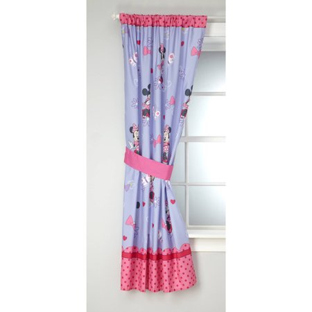 Disney Minnie Mouse Bow Power Girls Bedroom Curtain Panel