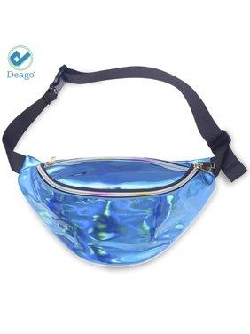 a85e5cb0d63 Product Image Deago Festival Rave Women Holographic Fanny Pack Shiny Sling  Waist Bag Fashion Iridescent Bum Bag Laser