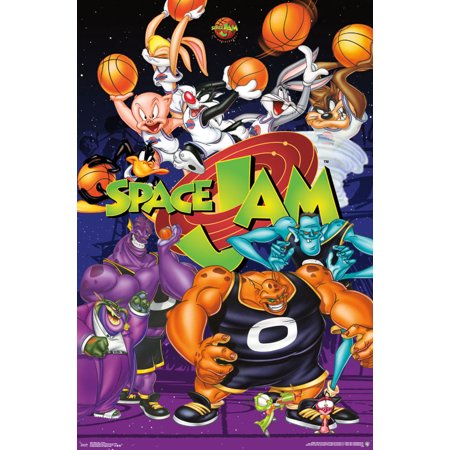 Trends International Space Jam Collage Wall Poster 22.375