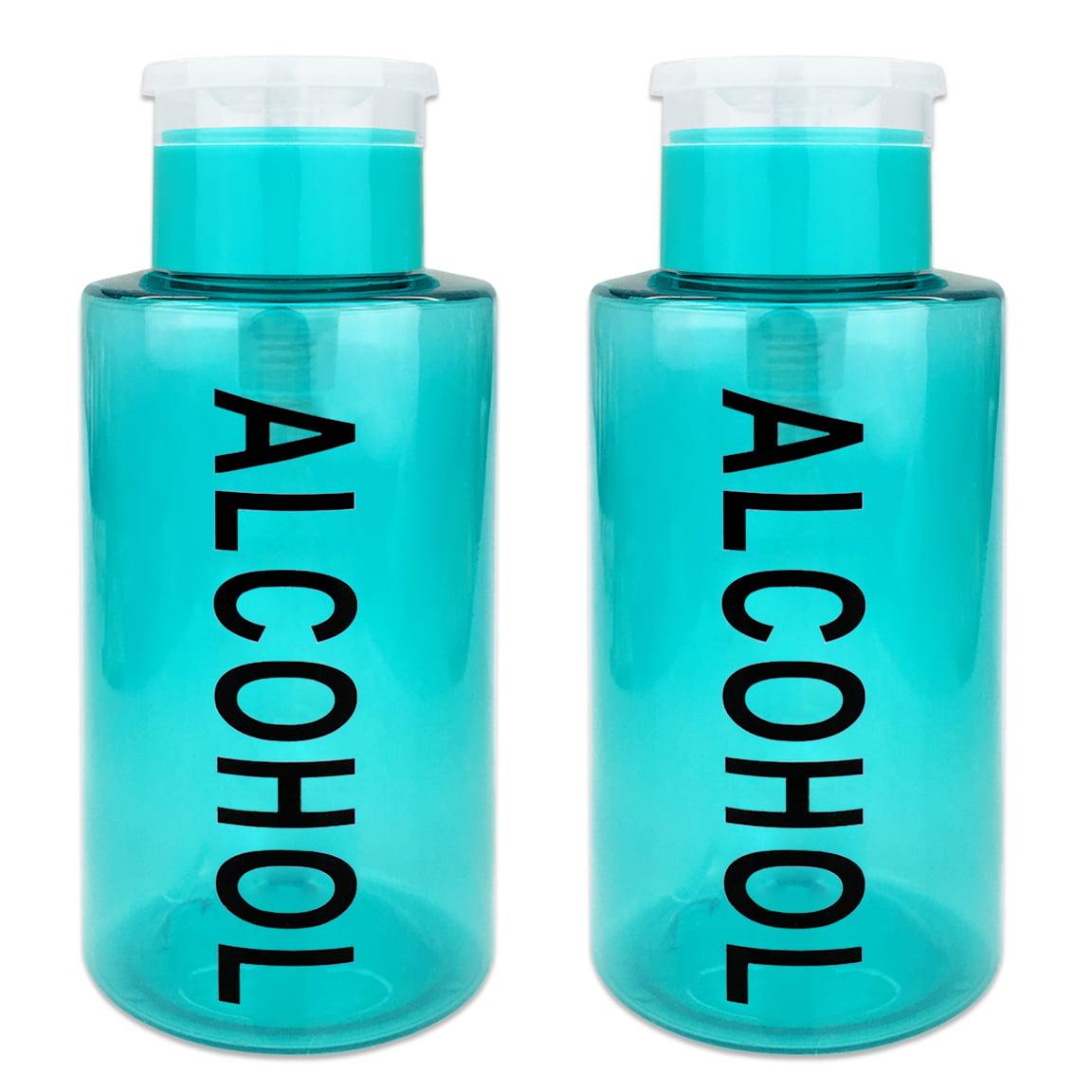 Pana High Quality 10oz Liquid Pump Dispenser With Alcohol Label - Teal (2 Bottles)